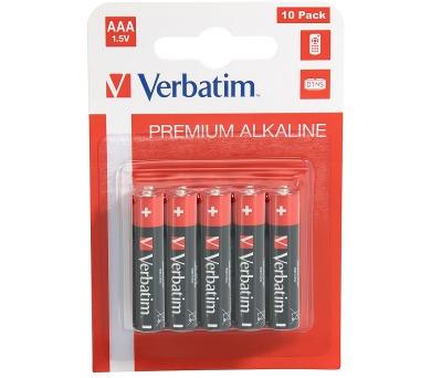 VERBATIM alkalická baterie 1,5V AAA/ blistr 10ks (49874)