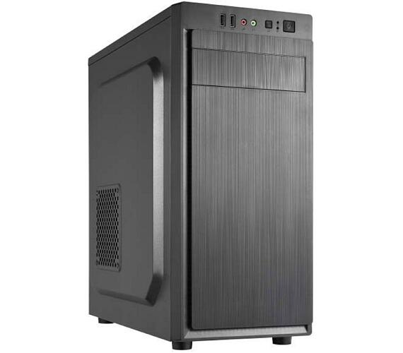 CRONO skříň Middle Tower MT-X3/ bez zdroje/ 2x USB 2.0/ černý (CR-MTX3)