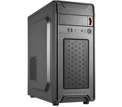 CRONO skříň Middle Tower MT-X7/ bez zdroje/ 2x USB 2.0/ černý (CR-MTX7)