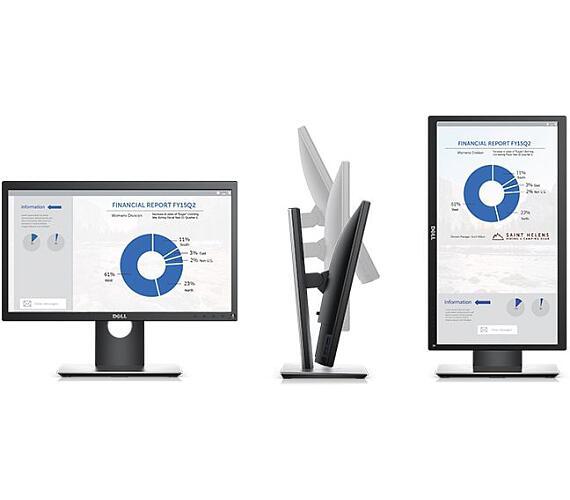 "Dell P2018H WLED LCD 20"" Professional/8ms/1000:1/HDMI/USB/DP/IPS panel/černý (210-APBK)"