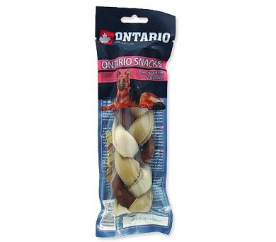 ONTARIO Dog Rawhide Braided Stick Mix 17,5 cm