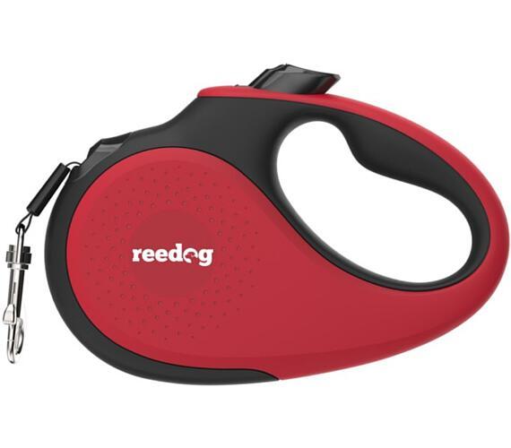 Reedog Senza Premium samonavíjecí vodítko M 25kg / 5m páska / červené