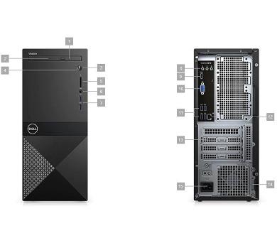 DELL Vostro 3670 MT/i7-8700/8GB/1TB/Intel UHD/DVD-RW/WiFi/BT/Win10 Pro 64bit (3670-3787)