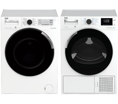 SET Pračka BekoPWTV 8644 CSX0 + Sušička Beko DH 8544 CSRX