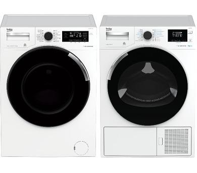 SET Pračka Beko WTV 8744 CSXW0 + Sušička prádla Beko DH 8544 CSRX