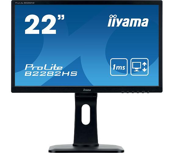 iiyama B2282HS-B1 - TN,FullHD,1ms,250cd/m2 + DOPRAVA ZDARMA