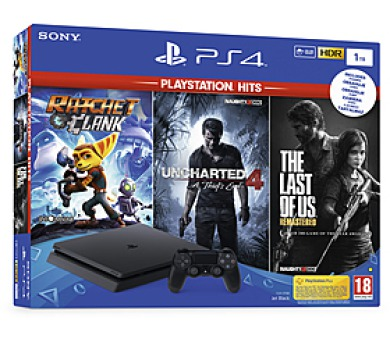 PS4 1TB slim + TLOU + U4 + R&C Sony