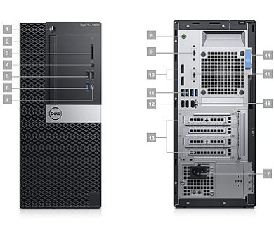 DELL OptiPlex MT 5060/Core i5-8500/4GB/500GB/Intel UHD/DVD-RW/Win 10 Pro 64bit/3Yr PS NBD (5060-3534) + DOPRAVA ZDARMA