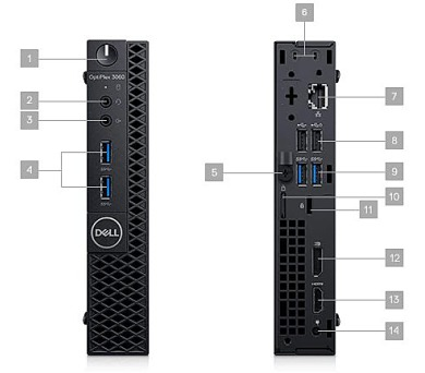 DELL OptiPlex MFF 3060/Core i5-8500T/4GB/128GB SSD/Intel UHD/Win 10 Pro 64bit/3Yr NBD (3060-3275) + DOPRAVA ZDARMA