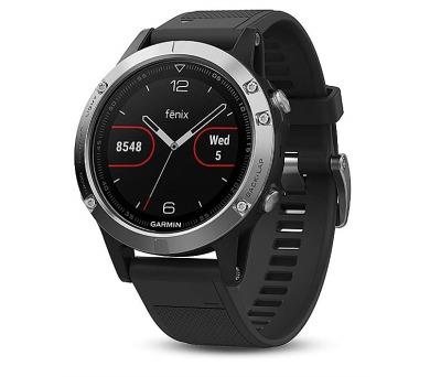 GARMIN GPS chytré hodinky fenix5 Silver Optic