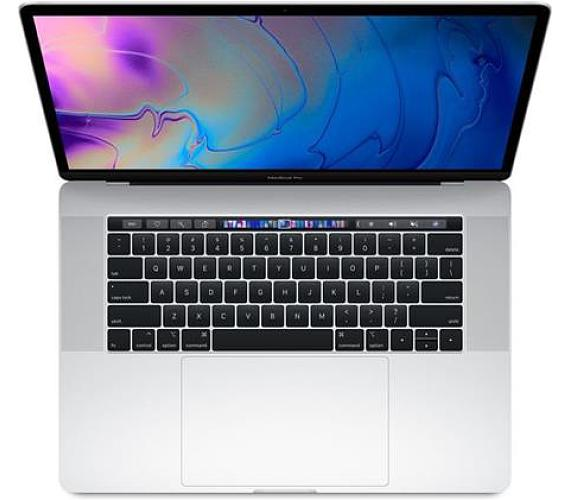 """Apple MacBook Pro 15,4"""" Touch Bar/IPS Retina 2880x1800/OC i7 2.6-4.3GHz/16GB/512GB_SSD/R Pro 560X_4GB/Silver (2018) (MR972CZ/A) + DOPRAVA ZDARMA"""