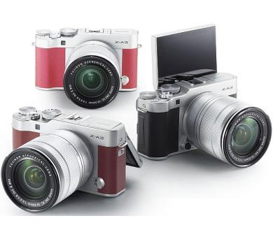 Fujifilm X-A3 + XC16-50 - Silver/Brown (16531702)
