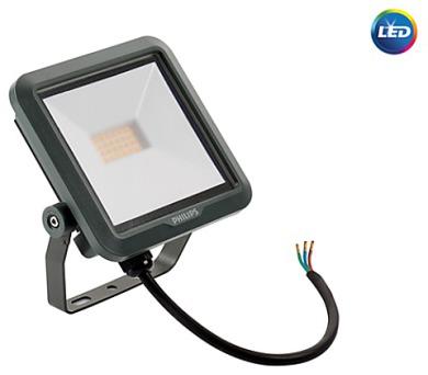 LED reflektor 10W plochý černý 900lm