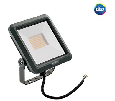 LED reflektor 10W plochý černý 2500lm