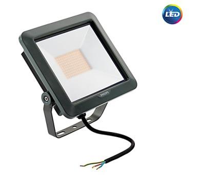 LED reflektor 50W plochý černý 4500lm