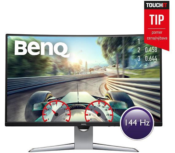 """BENQ 32"""" LED EX3203R/ Curved/ VA panel/ 2560x1440/ 20M:1/ 4ms/ 144 Hz/ HDMI/ DP/ USB C/ USB/ HDR/ FreeSync/ černý (9H.LGWLA.TSE)"""