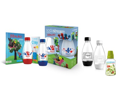 SodaStream škola lahev dětská + dámská + příchuť + DOPRAVA ZDARMA