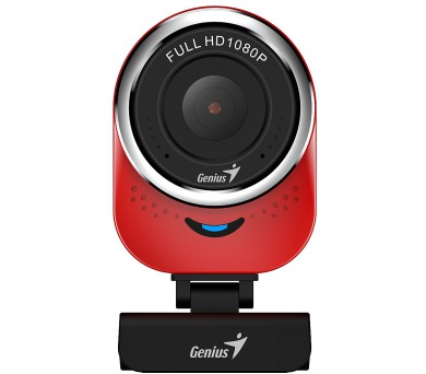 GENIUS webová kamera QCam 6000/ červená/ Full HD 1080P/ USB2.0/ mikrofon (32200002401)