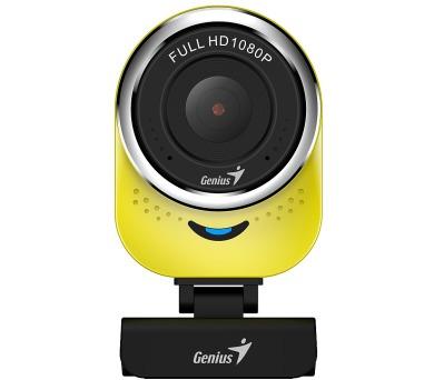 GENIUS webová kamera QCam 6000/ žlutá/ Full HD 1080P/ USB2.0/ mikrofon (32200002403)