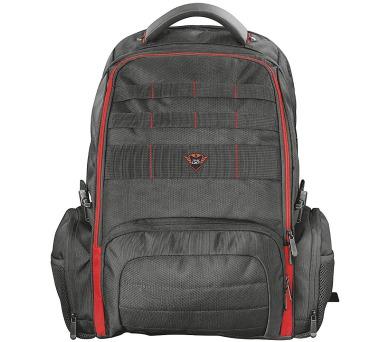 """Trust GXT 1250 Hunter Gaming batoh / herní / pro notebooky do 17,3"""" / oddíly pro příslušenství / vodotěsný obal / černý (22571)"""
