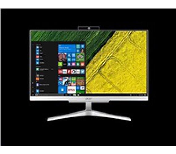 """ACER PC AiO Aspire C24-865 - i5-8250U@1.6GHz,IPS,23,8"""" FHD,8GB,1TBHDD54,ext.DVD,Intel HD 620,USB3.1,kl+mys,W10H,střibrný (DQ.BBUEC.00"""