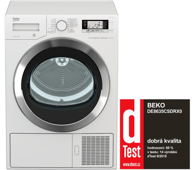 Beko DE 8635 CSDRX0 + Český ovládací panel! + Záruka 5 let + DOPRAVA ZDARMA
