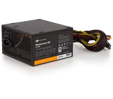 SilentiumPC zdroj 350W / Elementum E2 / 120mm fan / Akt. PFC / 80PLUS EU / Bulk balení (SPC196)