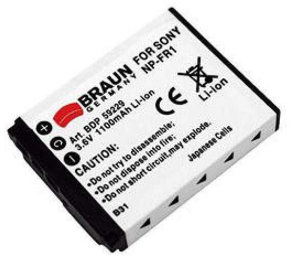 Braun akumulátor SONY NP-FR1