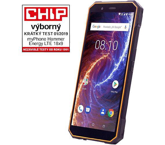 myPhone Hammer Energy 18x9 LTE oranžovo-černý + DOPRAVA ZDARMA