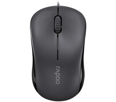 RAPOO N1130 Black/ 1000 dpi/ drátová/ černá (13742)
