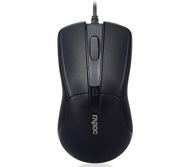 RAPOO N1162 Black/ 1000 dpi/ drátová/ černá (13754)