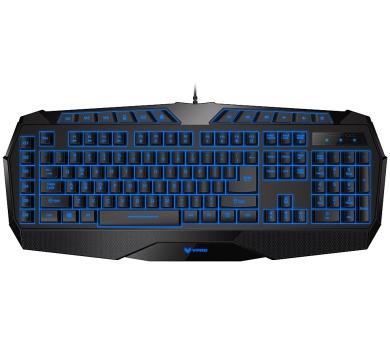 RAPOO VPRO herní klávesnice V52/ podsvícená/ drátová/ USB/ černá/ CZ+SK layout (18004)