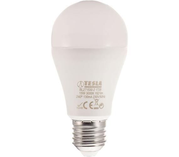 TESLA LED žárovka BULB/ E27/ 15W/ 230V/ 1521lm/ 3000K/ teplá bílá (BL271530-2)