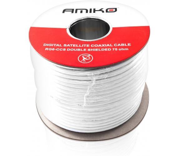 AMIKO koaxiální kabel RG6 CCS DS - balení 100m Cívka + DOPRAVA ZDARMA