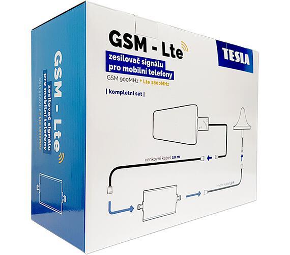 Tesla GSM + LTE zesilovač/opakovač 900/800 MHz GSM-01 LTE- kompletní sada + DOPRAVA ZDARMA