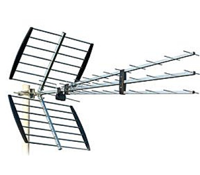 ISKRA DVB-T anténa P-47+N Triplex LTE s F konektorem 11 - 17 dB