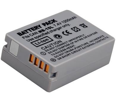 TRX baterie Canon/ 1200 mAh/ pro PowerShot SX40 HS/ G1 X/ G15/ G16/ neoriginální (TRX-NB-10L)