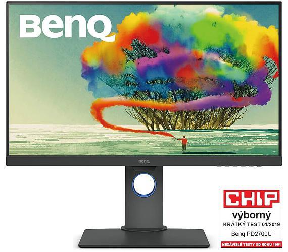 """BENQ 27"""" LED PD2700U/ FF/ LBL/ IPS panel/ 3840x2160/ 20M:1/ 5ms/ HDMI/ DP/ USB/ repro/ Pivot/ černý (9H.LHALB.QBE)"""