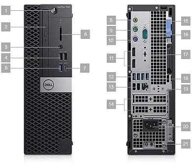 DELL OptiPlex SFF 7060/Core i5-8500/8GB/256GB SSD/Intel UHD/DVD-RW/Win 10 Pro 64bit/vPRO/3Yr PS NBD (7060-3701)