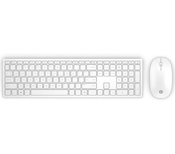 HP bezdrátová klávesnice a myš HP Pavilion 800 - bílá SK (4CF00AA#AKR)