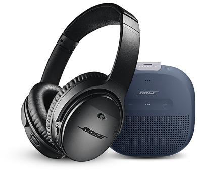 Bose QC 35 II Black + Bose SL Micro Blue