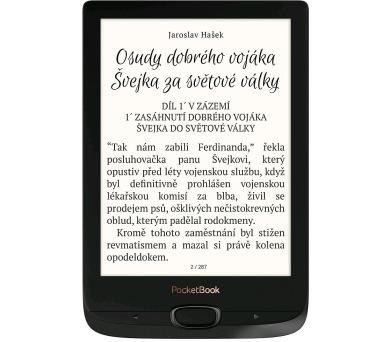 """POCKETBOOK e-book reader 616 Basic Lux 2/ 8GB/ 6""""/ Wi-Fi/ micro SD/ micro USB/ čeština/ černá (obsidián) (PB616W-H-WW)"""