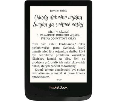 """POCKETBOOK e-book reader 627 Touch Lux 4/ 8GB/ 6""""/ Wi-Fi/ micro SD/ micro USB/ čeština/ černá (o"""