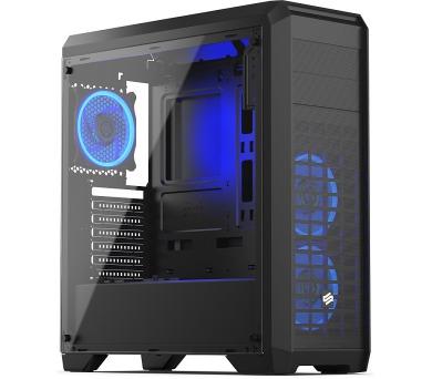 SilentiumPC skříň Regnum RG4T RGB Pure Black / celoskleněná bočnice/ čtečka SD / USB 3.0 / regulace otáček / černá (SPC205)