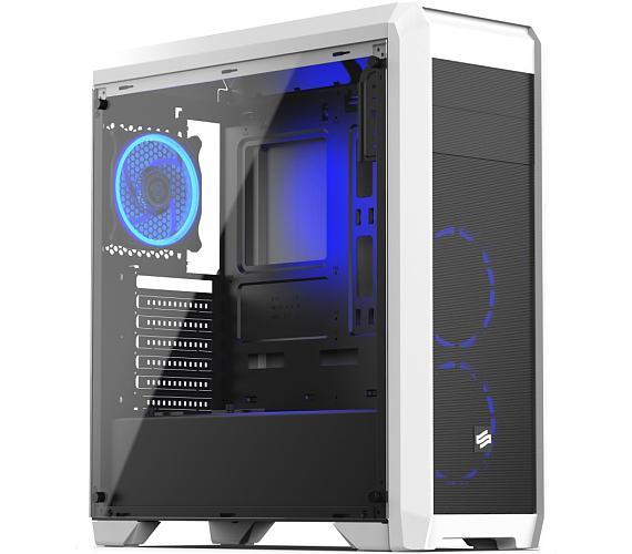 SilentiumPC skříň Regnum RG4TF RGB Frosty White / celoskleněná bočnice/ čtečka SD / USB 3.0 / regulace otáček / bílá (SPC206)