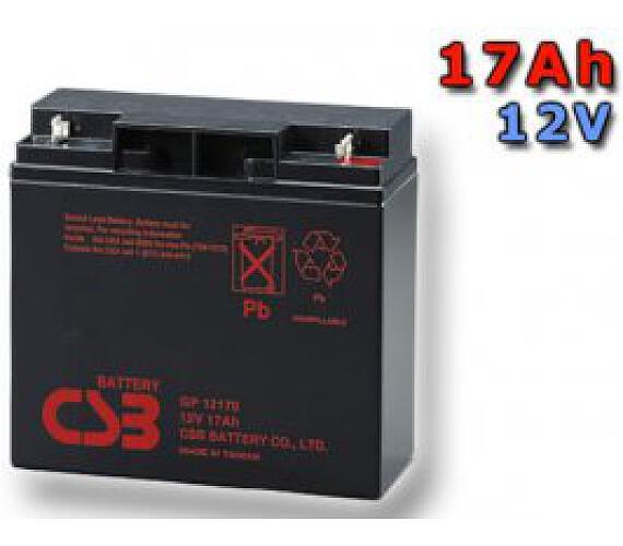CSB Náhradni baterie 12V - 17Ah GP12170 - kompatibilní s RBC7/11/49/50/55 + DOPRAVA ZDARMA