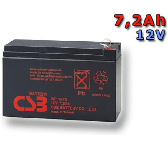 CSB Náhradni baterie 12V - 7,2Ah GP1272 F2 - kompatibilní s RBC2/5/8/9/12/22/23/25/27/31/32/33/40/48/51/53/54/59/109/110 (GP1272F2)