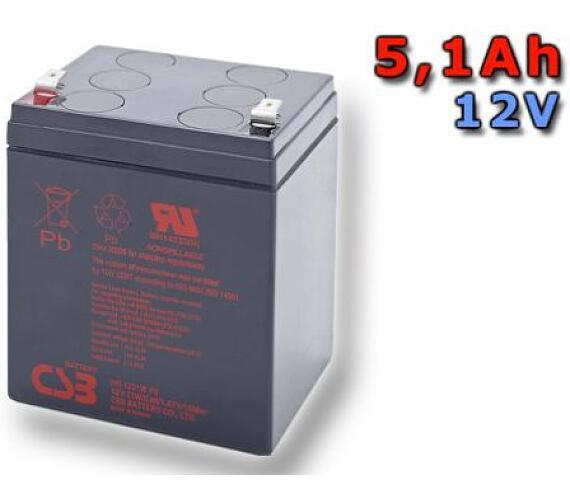 CSB Náhradni baterie 12V - 5,1Ah HR1221W F2 - kompatibilní s RBC29/30/43/44/117/118 (HR1221WF2)