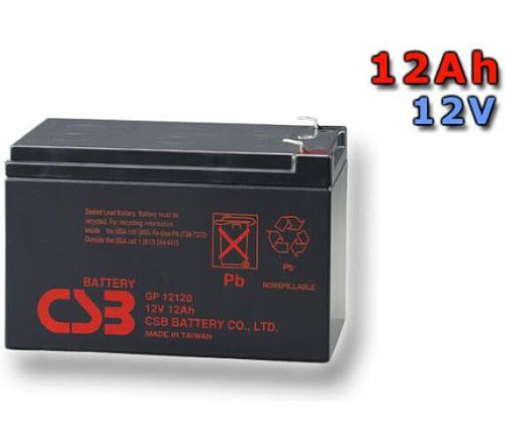 CSB Náhradni baterie 12V - 12Ah GP12120 F2 - kompatibilní s RBC4/6 (GP12120F2) + DOPRAVA ZDARMA