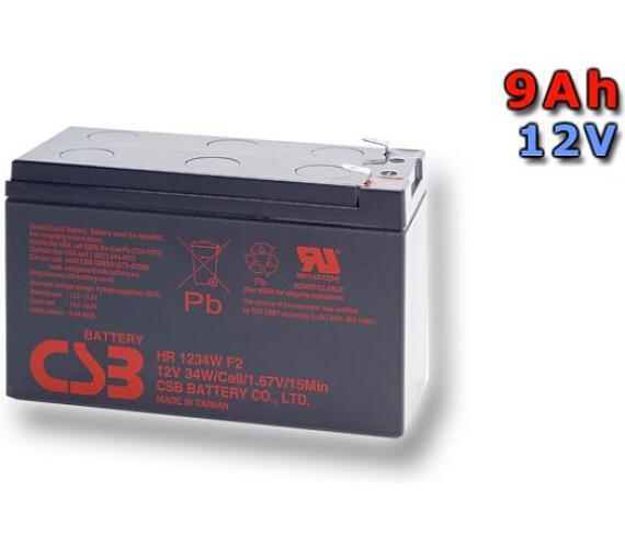 CSB Náhradni baterie 12V - 9Ah HR1234W F2 - kompatibilní s RBC17/24/105/115/116/124/132/133 (HR1234W